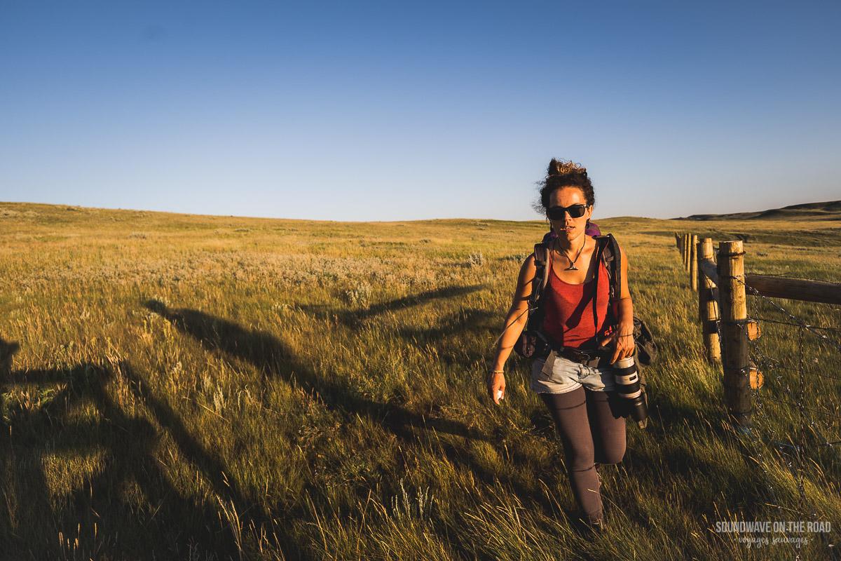 Randonnée dans les Prairies au Canada