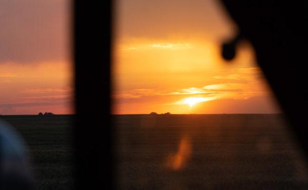 Coucher De Soleil Dans Le Saskatchewan